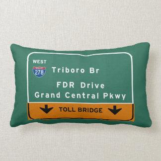 Br FDR van Triboro van de Stad van NYC New York Lumbar Kussen