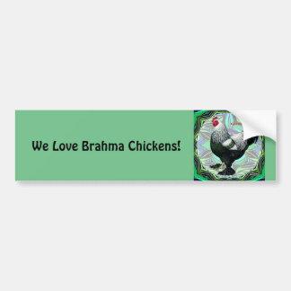 Brahma:  Fancy Donkere Haan Bumpersticker