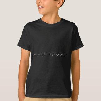 Braille - lees dit overhemd niet. (dark) t shirt