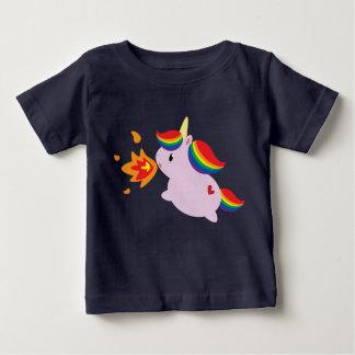 Brand-ademende Eenhoorn Baby T Shirts