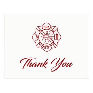 Brand Afd. - de Brandbestrijder dankt u Briefkaart