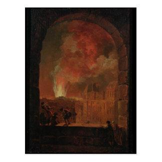 Brand bij de Opera van het Palais Royal Briefkaart
