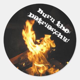 Brand het Patriarchaat Ronde Sticker