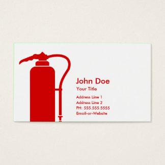 brandbestrijder visitekaartjes