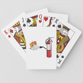 Brandblusapparaat die de Speelkaarten van de Brand