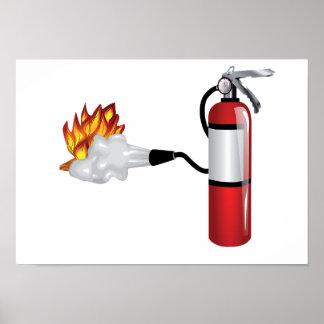 Brandblusapparaat die het Poster van de Brand