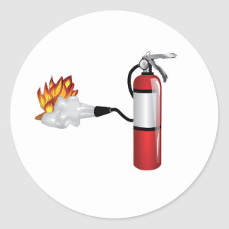 Brandblusapparaat die uit de Stickers van de Brand