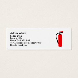 Brandblusapparaat Mini Visitekaartjes