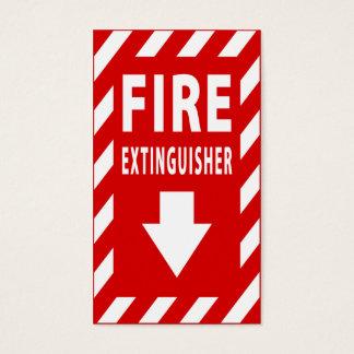 brandblusapparaatteken visitekaartjes