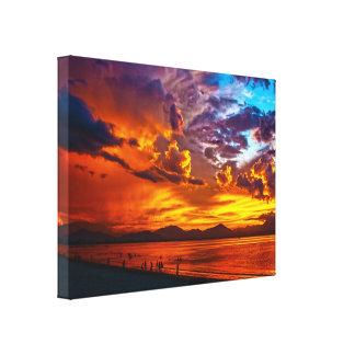 Brandend Hemel Uitgerekt Canvas