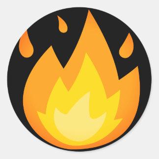 Brandende Brand Emoji Ronde Sticker