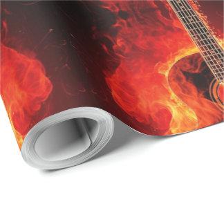 Brandende Gitaar, de Oranje Popgroep van de Muziek Cadeaupapier