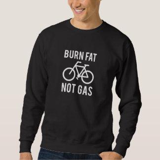 brandwond vet, niet gas trui