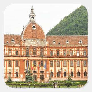 Brasov in Transsylvanië, Roemenië Vierkante Sticker