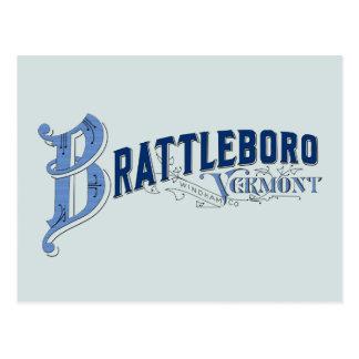 Brattleboro, Vermont, Windham Provincie 1896 Logo Briefkaart
