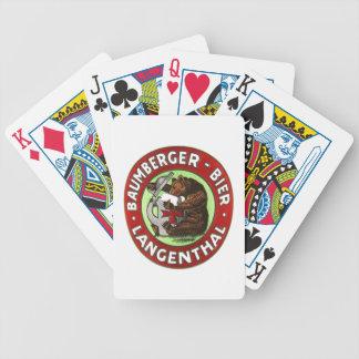 Brauerei Baumberger Langenthal Kartenspiele Poker Kaarten