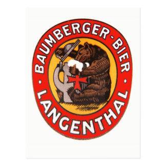 Brauerei Baumberger Langenthal Postkarte Briefkaart