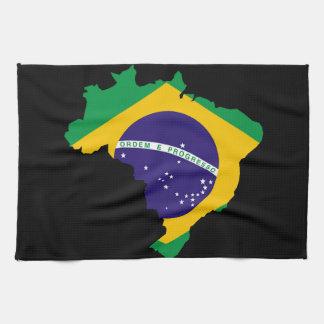 Braziliaanse landvlag theedoek