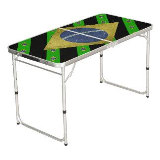 Braziliaanse strepenvlag beer pong tafel