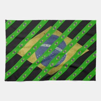 Braziliaanse strepenvlag theedoek