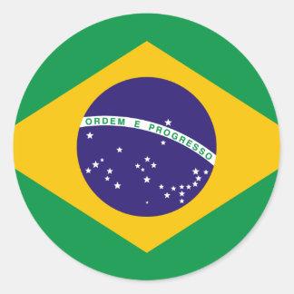 Brazilië Ronde Sticker
