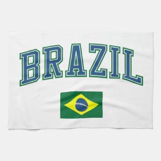Brazilië + Vlag Theedoek