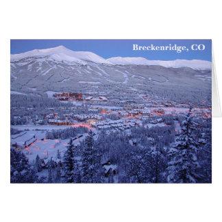 Breckenridge, het Wenskaart van Colorado