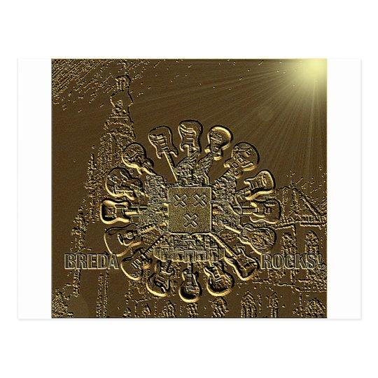 Breda Rocks bronzed etching.png Briefkaart