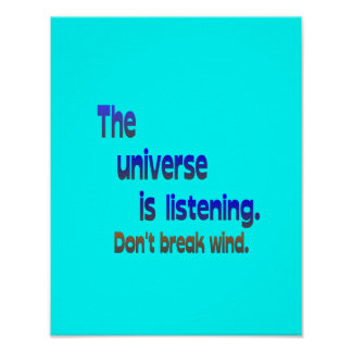 Breek geen Wind - het Heelal luistert Poster
