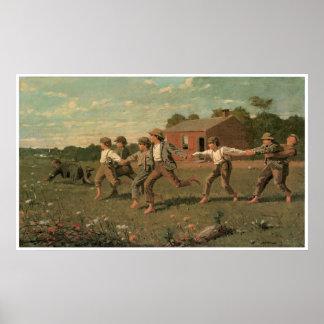 Breek Whip, 1872 Winslow Homer Poster
