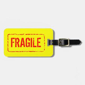 Breekbaar bagagelabel voor zak en koffers reisbagage labels