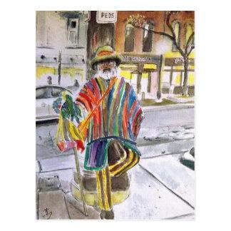 Brei Kerel op HoofdSt. Ann Arbor, Michigan Briefkaart