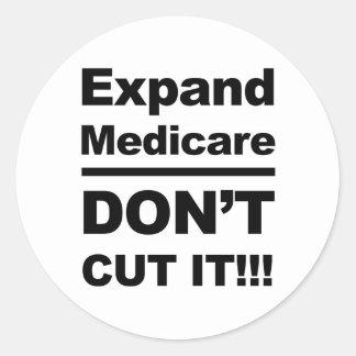 Breid gezondheidszorg voor bejaarden-Don't uit Ronde Sticker