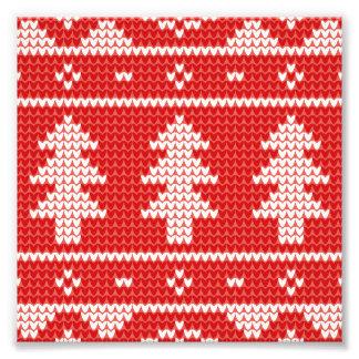 Breit de Rode Verbindingsdraad van kerstbomen Foto Afdrukken