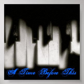 breken-piano-sleutels, een Tijd vóór dit Poster