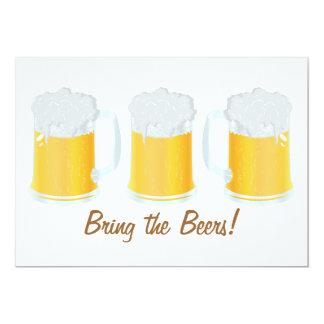 Breng de Partij van Beerfest van Bieren uitnodigen 12,7x17,8 Uitnodiging Kaart
