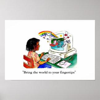 """""""Breng de wereld aan uw vingertoppen """" Poster"""