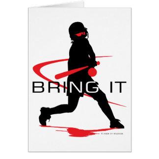 Breng het het Rode Softball van het Beslag Briefkaarten 0