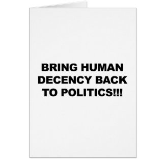Breng terug Menselijk Fatsoen Briefkaarten 0