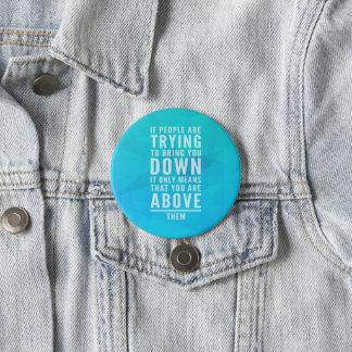 Breng u neer citeren ronde button 7,6 cm