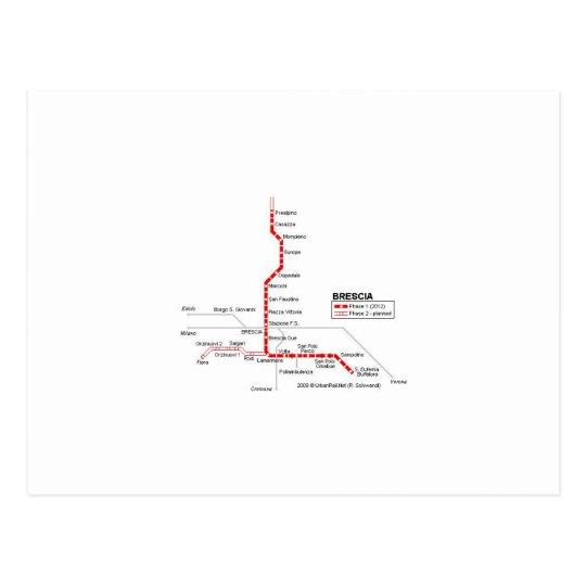 Brescia subway briefkaart