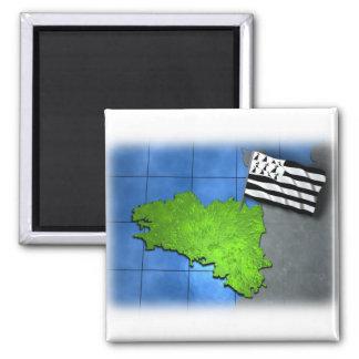 Bretagne met zijn eigen vlag magneet