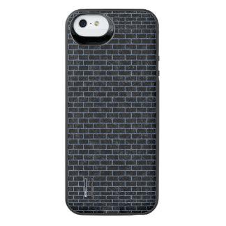 BRICK1 ZWART MARMEREN & BLAUW DENIM iPhone SE/5/5s BATTERIJ HOESJE
