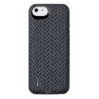 BRICK2 ZWART MARMEREN & BLAUW DENIM iPhone SE/5/5s BATTERIJ HOESJE