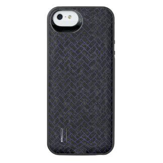 BRICK2 ZWART MARMEREN & BLAUW LEER iPhone SE/5/5s BATTERIJ HOESJE