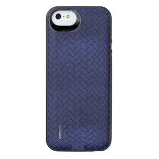 BRICK2 ZWART MARMEREN & BLAUW LEER (R) iPhone SE/5/5s BATTERIJ HOESJE