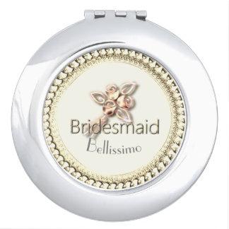 Bridesmaid_ROSE_GOLD-Monogram-Wedding-Favor Makeup Spiegels