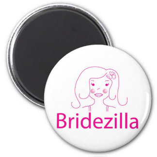 bridezilla ronde magneet 5,7 cm
