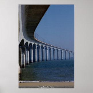 Bridge Ile DE Re, Frankrijk Poster
