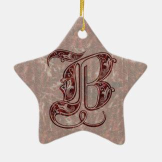 Brief B Keramisch Ster Ornament